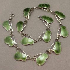 Enamel Sterling Silver Necklace Vintage Ivar Holt Norway | eBay