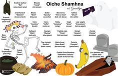 Irish Halloween, Halloween Words, Irish Language, Language Study, Gaelic Words, Scotland Travel, Scotland Trip, Trick R Treat, Spooky Treats