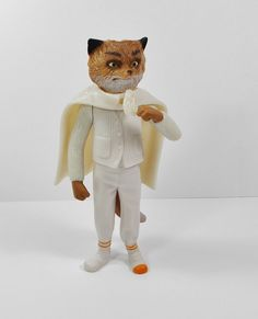 Fantastic Mr Fox - Ash - White Cape - Toy Figure - Roald Dahl - Cake Topper