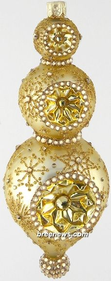Marais Reflector (Matte Gold/Shiny Gold/Snowflake/Jeweled)  Patricia Breen (Holidays)