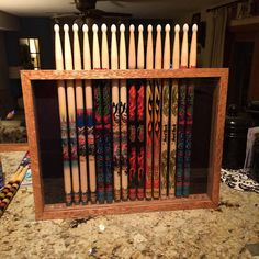 Custom Drum Stick Display Case