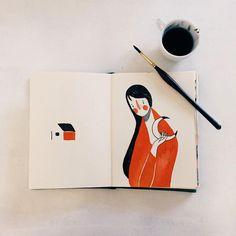 bom dia  #illustration #watercolor #sketch #vscocam