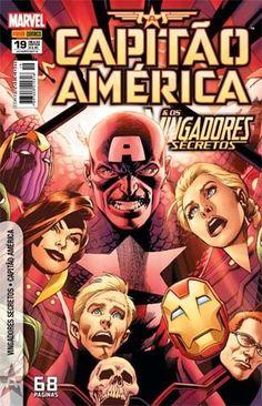 LIGA HQ - COMIC SHOP Capitão América e os Vingadores Secretos #19 - Capitão América - Marvel PARA OS NOSSOS HERÓIS NÃO HÁ DISTÂNCIA!!!