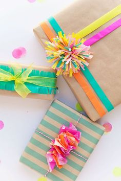 Use these beautiful 45 creative gift wrapping ideas to make your wrapping as special as the gift itself and to set your presents apart from the rest. Creative Gift Wrapping, Present Wrapping, Creative Gifts, Japanese Gift Wrapping, Creative Things, Unique Gifts, Birthday Gift Wrapping, Christmas Gift Wrapping, Birthday Gifts