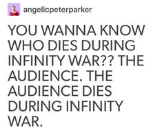 YESSS . THIS IS ABSOLUTELY TRUE. I EVEN PUT IT IN MY STATUS THAT APRIL 27TH IS THE DAY I DIED AFTER INFINITY WAR