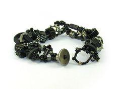 Beaded Bracelet 12 by April Moon Peacock at IndustrialDebris.com