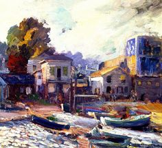 Fish Market - Monterey Joseph Kleitsch - 1923-1924