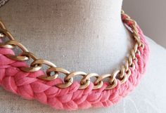 Collar de trapillo. Tutorial