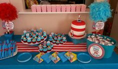 Andrew and Anthony's Thing 1 and Thing 2 Birthday Party 2013 By: Ivette Cupcakes and Cake by: Mirna and Julia