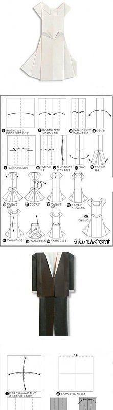 Zobacz zdjęcie kartki garnitur i sukienka