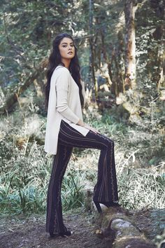 Wear these bohemian flare pants on any day out for a stylish look! You can't go through winter without these must-haves.