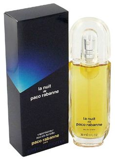 La Nuit by Paco Rabanne is an animalic, woody, honey, earthy Chypre Floral fragrance with basil, bergamot, lemon, tangerine and artemisia in the top. Jasmine, rose, peach, black pepper and honey in the middle. Oakmoss, woody notes, patchouli, leather, cedar and civet in the base. - Fragrantica