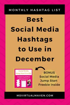 Creating content for social media is difficult enough without trying to figure out which hashtags are appropriate month. Here's a holiday list for December.