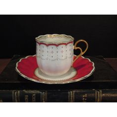 Vintage Fine Bone China Nikko Company Belle Pattern Japan Demitasse... ($26) ❤ liked on Polyvore featuring home, kitchen & dining and drinkware