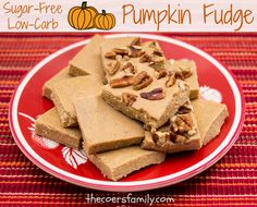 Trim Healthy Mama Pumpkin Fudge (S)  Creamy, decadent, sugar-free Pumpkin Fudge ~ Check out how quickly you can make this delicious little Fall treat