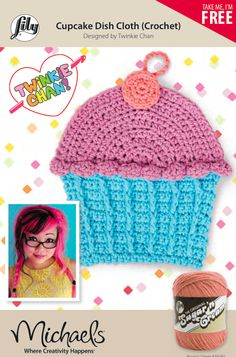 Me + Michaels + Lily Sugar 'n Cream = Free Crochet Pattern for Cupcake Dish Cloths!
