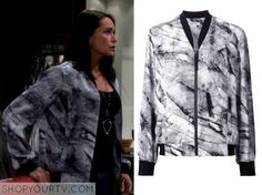 The Bold & The Beautiful: Feb 2015 Quinn's Printed Bomber Jacket