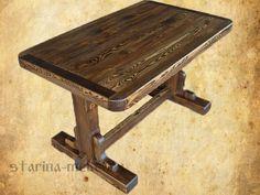 """Деревянный стол под старину """"Ришелье"""""""