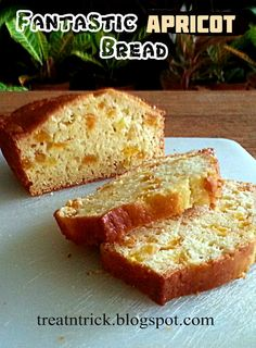 Fantastic Apricot Bread Recipe @ treatntrick.blogspot.com This easy and quick bread is delicious.  It is an excellent breakfast or snack bread