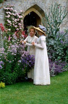 A garden in the 1996 movie version of Jane Austen's 'Emma'