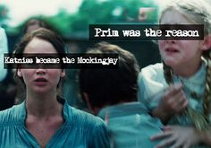 "And thats why this story is about love after all. The love Katniss had for her ""little duck"""