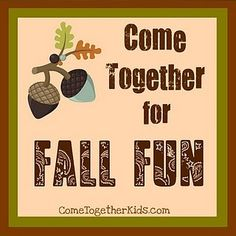 Blog Carnival of TONS of great Fall Activities - - Pinned by #PediaStaff.  Visit http://ht.ly/63sNt for all our pediatric therapy pins