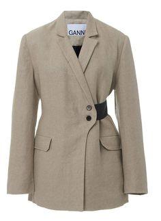 Ganni Linen Two Tone Blazer 80s Fashion, Daily Fashion, Vintage Fashion, Fashion Outfits, Womens Fashion, Classy Fashion, Style Fashion, Fashion Tips, Fashion Details