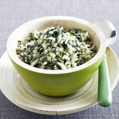 Receita Arroz integral com espinafres por Equipa Bimby - Categoria da receita Pratos principais vegetariano
