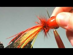 Fire Tiger Bass Popper - Fly Tying Lesson Video Tutorial by Curtis Fry - YouTube
