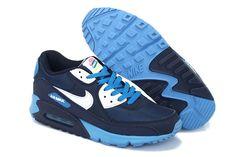 new arrival 89f29 c2e56 Nike Air Max 90 Hyperfuse pour Homme Chaussures - Bleu Blanc Bleu Ciel Air