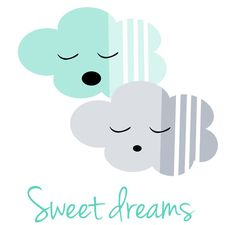 Mint Green And Gray Nursery Decor Sweet Dreams by LimitationFree