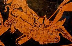 The death of Sarpedon, depicted in Lycian attire, at the hands of Patroclus. Red-figure hydria from Heraclea, c.400 BCE.