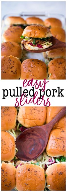 These Easy Pulled Pork Sliders w/ Pepperidge Farm Slider Buns are super quick to whip up, full of flavor, and absolutely drool worthy. Perfect for game day celebrations! #RespectTheBun #Ad #LittleBunsBigWin #BakedWithCare