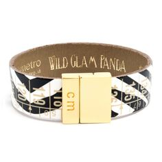 Panda, Artisanal, Cuff Bracelets, Letter, News, Accessories, Jewelry, Fashion, Magnetic Lock