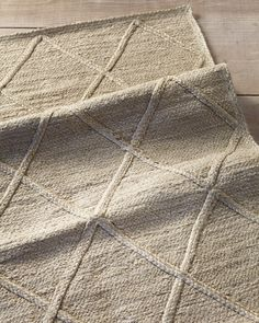 A rug with a beachy vibe makes everyone feel right at home. Made entirely of hand-braided jute that's extra soft because it's been specially bleached, it beckons for bare feet. We love the subtle texture. Cottage Rugs, Beach Cottage Decor, Jute Rug, Woven Rug, Living Room Carpet, Rugs In Living Room, Jute Carpet, Interior Rugs, Interior Design