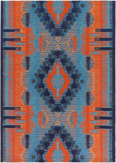 Mescalero MESC with colors Sky Blue, Sky Blue/Bright Orange/Navy/Peach/Dark Brown. Hand Woven PET Yarn Indoor / Outdoor made in India Orange Area Rug, Blue Area Rugs, Bear Rug, Transitional Rugs, Indoor Outdoor Area Rugs, Outdoor Spaces, Red Rugs, Red Poppies, Throw Rugs