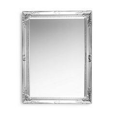 French Style Rustic Silver Framed Mirror Silver Framed Mirror, Ornate Mirror, Wall Mounted Mirror, French Country Style, Vintage Country, Rustic, Antiques, Glass, Country Primitive