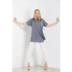 Dzianinowa tunika z kieszenią i spodnie z wiskozy. Knitted tunic with pocket and trousers made of viscose. http://www.bee.com.pl/e-sklep/