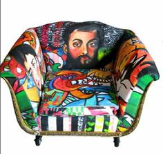Russian House and Design: Pop Art Furniture Collection by Sarah Van Hoe