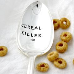 Hey, I found this really awesome Etsy listing at https://www.etsy.com/listing/162083735/cereal-killer-hand-stamped-table-spoon