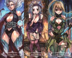 Fairy Tail: Lucy Heartfilia . Mirajane Strauss , Levy McGarden