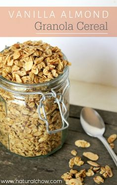 This easy vanilla almond granola is the perfect replacement for any storebought granola cereal. It's incredibly easy to prepare, sweet, and healthy!