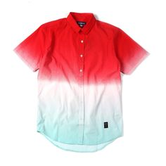"""@Akomplice """"Sunset Dye Button Up"""" 