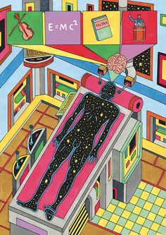 Paul Paetzel's psychedelic space age illustrations are out of this world.