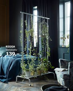 """IKEA, """"Are you comfortable with an open solution, but should at least wish you could share the room?"""", (Klesstativet a new system that can grow), pinned by Ton van der Veer"""