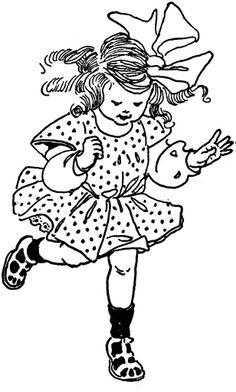 **FREE ViNTaGE DiGiTaL STaMPS**: Free Vintage Digital Stamp - Girl Hopping