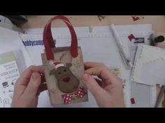 weihnachtliche Elch Geschenkverpackung | Basteln mit der Hobbycompany Quickborn und Stampin`Up Produkten