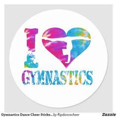 Shop Gymnastics Dance Cheer Stickers Love Heart created by flipdancecheer. Gymnastics Crafts, Gymnastics Logo, Gymnastics Stunts, Gymnastics Images, Tumbling Gymnastics, Gymnastics Party, Gymnastics Quotes, Gymnastics Posters, Gymnastics Videos