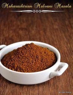 Homemade Maharashtrian Malvani Masala recipe and links to other masalas.