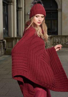 Lana Grossa PATCHWORK-PONCHO Alta Moda Cashmere 16 - FILATI Accessoires No. 16 - Modell 42 | FILATI.cc WebShop